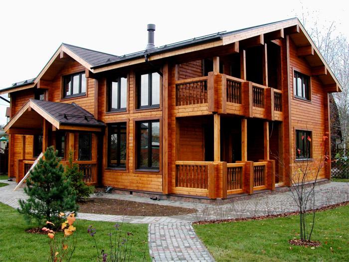 Дом из сибирской лиственницы