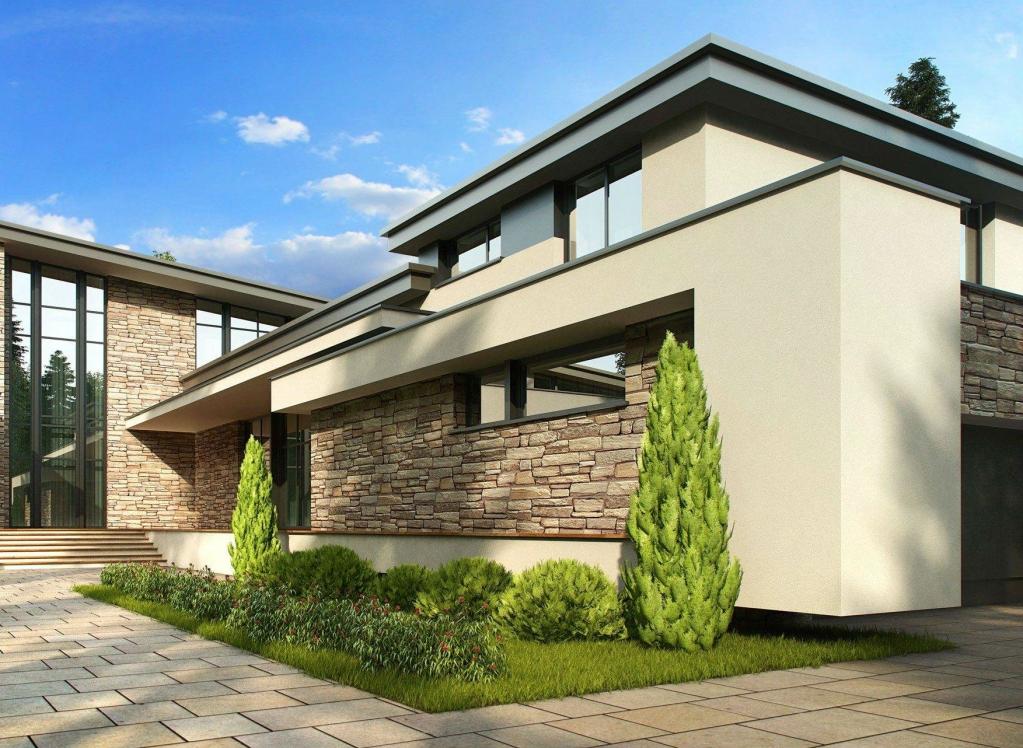 Крашеная фасадная доска для отделки дома