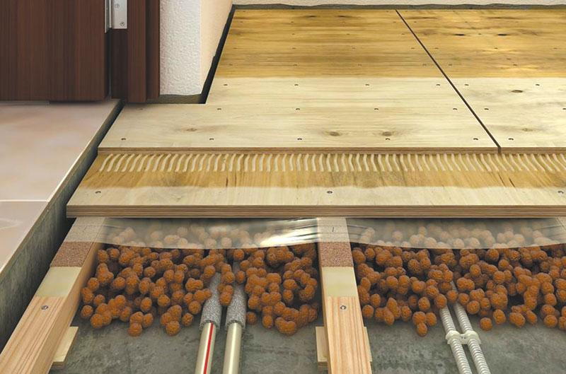Деревянные полы на бетонном основании
